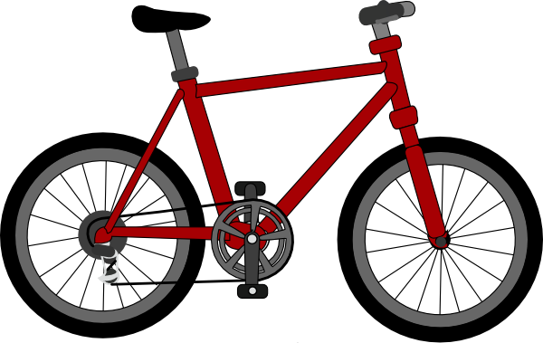 Bike clipart animated. Bicycle clip art at