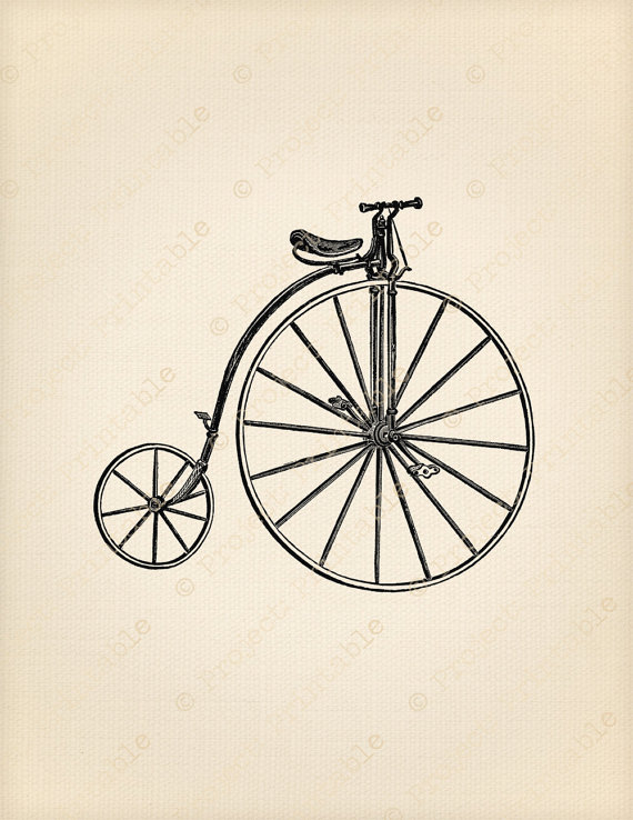 Instant download penny farthing. Bike clipart bicicle