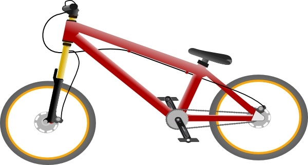 Bicycle clipart vector. Bike clip art free