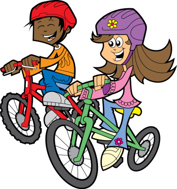 Bike clipart bike rider. Learning to ride a