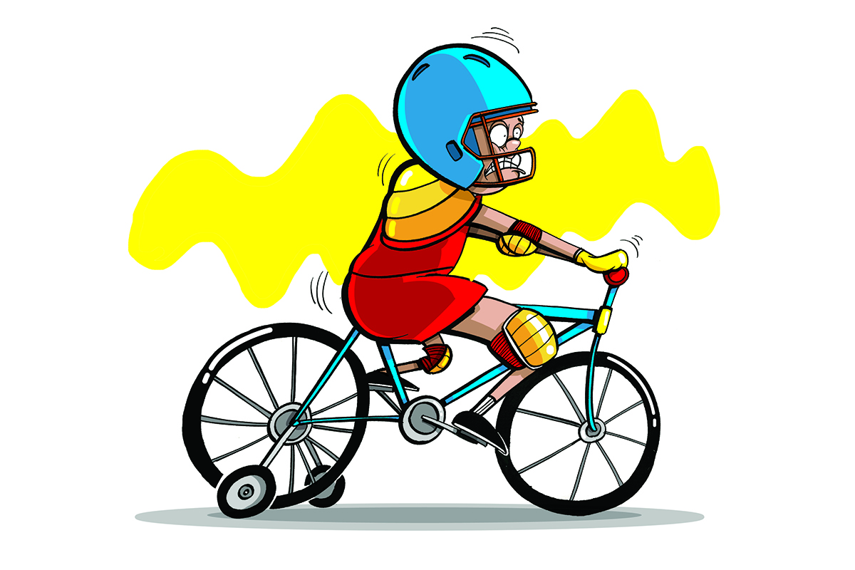 Teaching a child how. Bike clipart bike safety