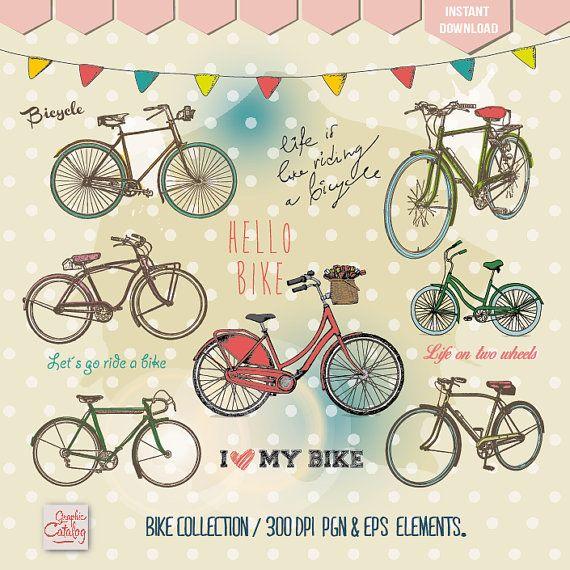 pins scrapbooking wedding. Bike clipart birthday