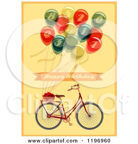 Bike clipart birthday. Bicycle