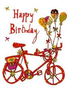 Hip vintage cycle balloons. Bike clipart birthday
