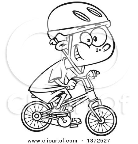 Bike clipart black and white. Bicycle cartoon drawing at