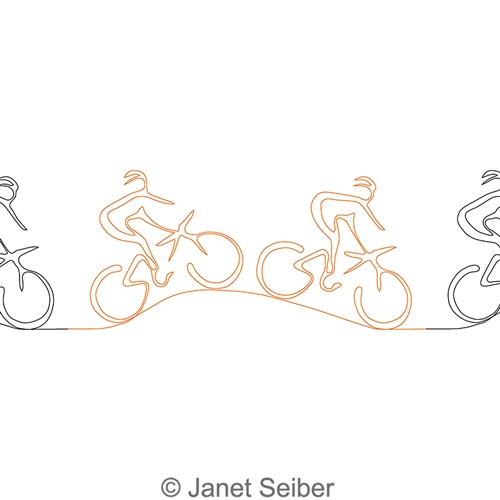 Mountain biking janet seiber. Bike clipart border