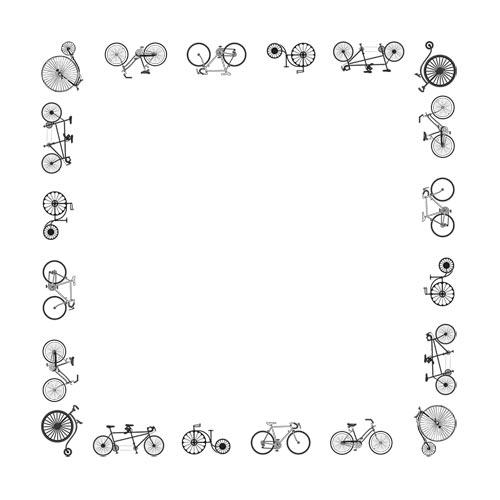 Bandana stock artwork huge. Bike clipart border
