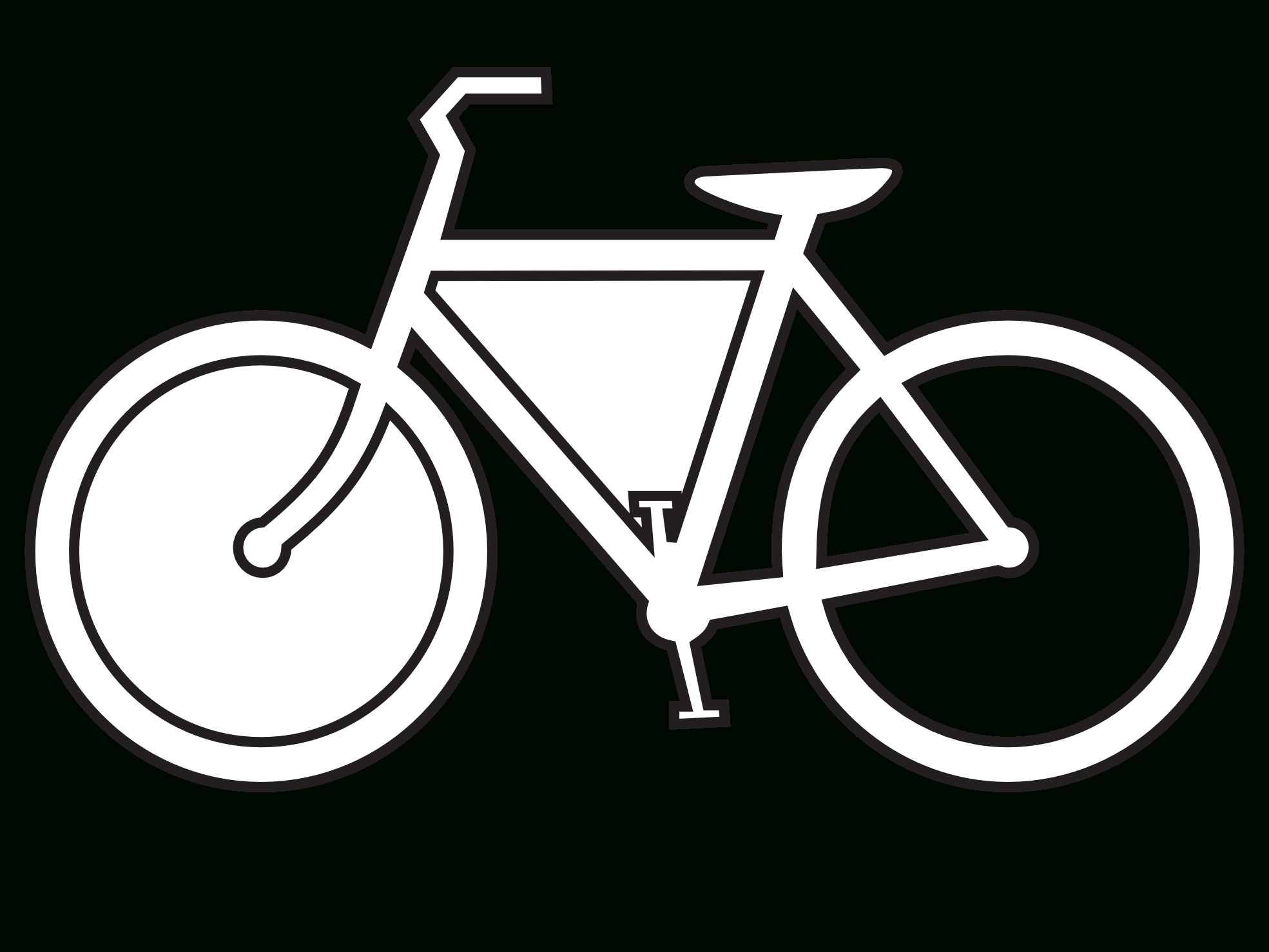 Bike clipart bycicle. Simple drawing of clip