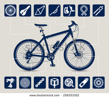 Bicycle part mtb high. Bike clipart bycicle