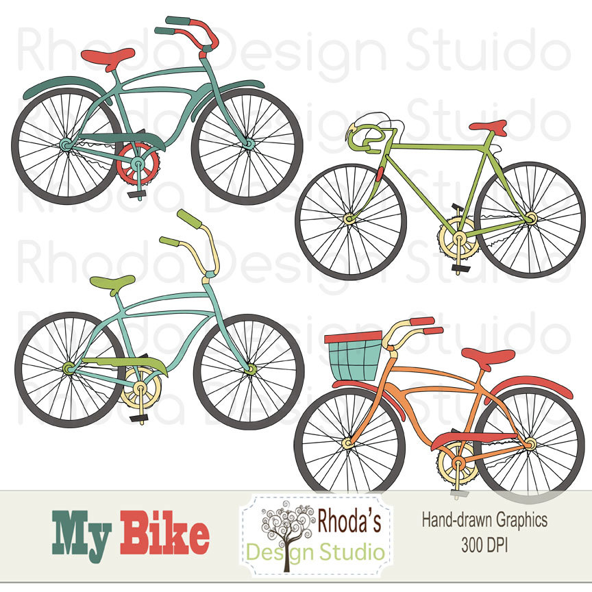 Vintage bicycle pencil and. Bike clipart bycicle