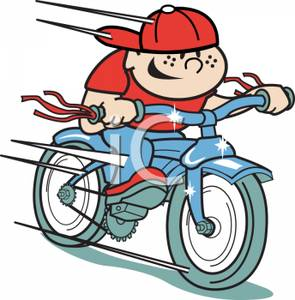 Clipart bike momentum. A colorful cartoon of