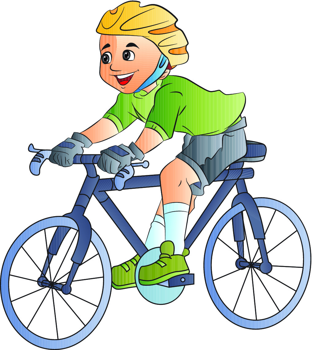 Ride pencil and in. Bike clipart cartoon