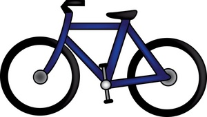 Bike clipart cartoon.