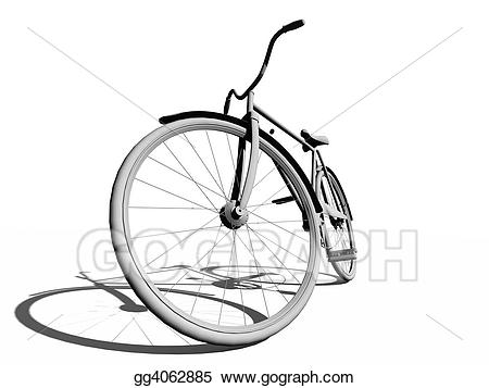 Clipart bike classic. Stock illustration bicycle drawing