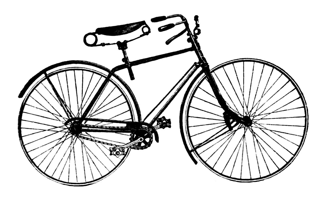 Advertising clip art antique. Cycle clipart vintage