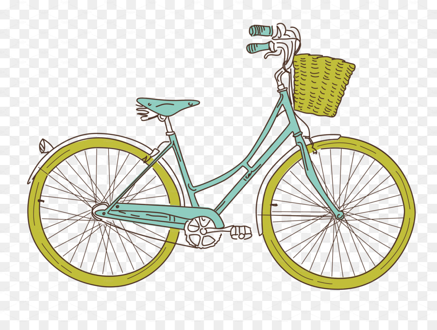 Retro background frame bicycle. Bike clipart clip art