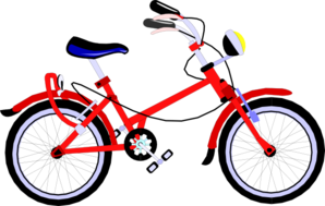 Red bicycle clip art. Biking clipart public domain