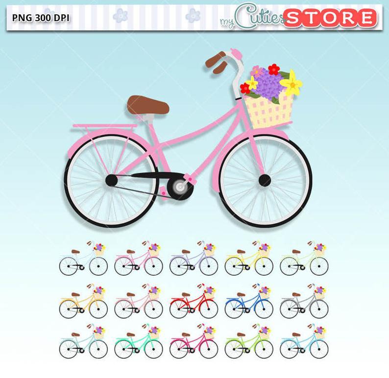 vintage style cute. Clipart bicycle bike paris