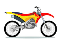 Free clip art pictures. Motorcycle clipart red dirt