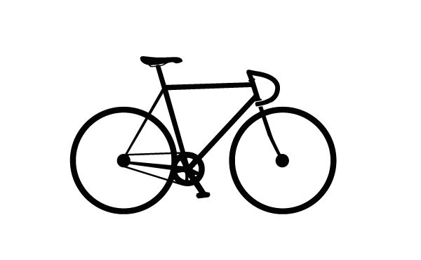 Bike clipart easy. Simple bicycle drawing related