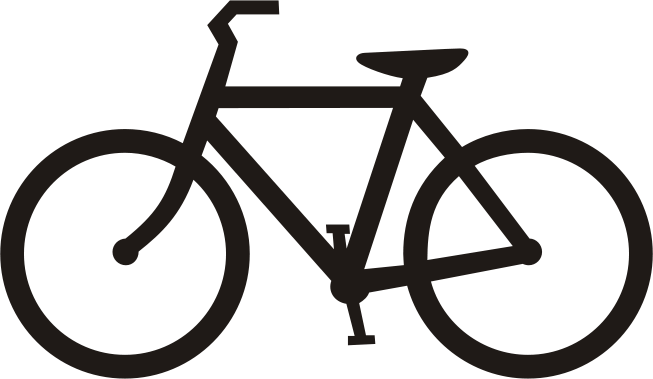 Front . Clipart bike bicyle