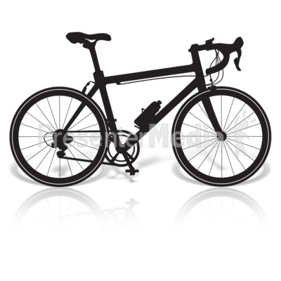 Bike clipart hybrid bike. Presenter media powerpoint templates