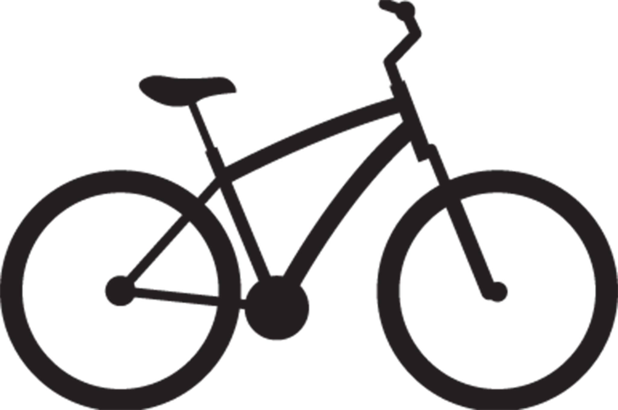 Two wheel road warrior. Bike clipart hybrid bike
