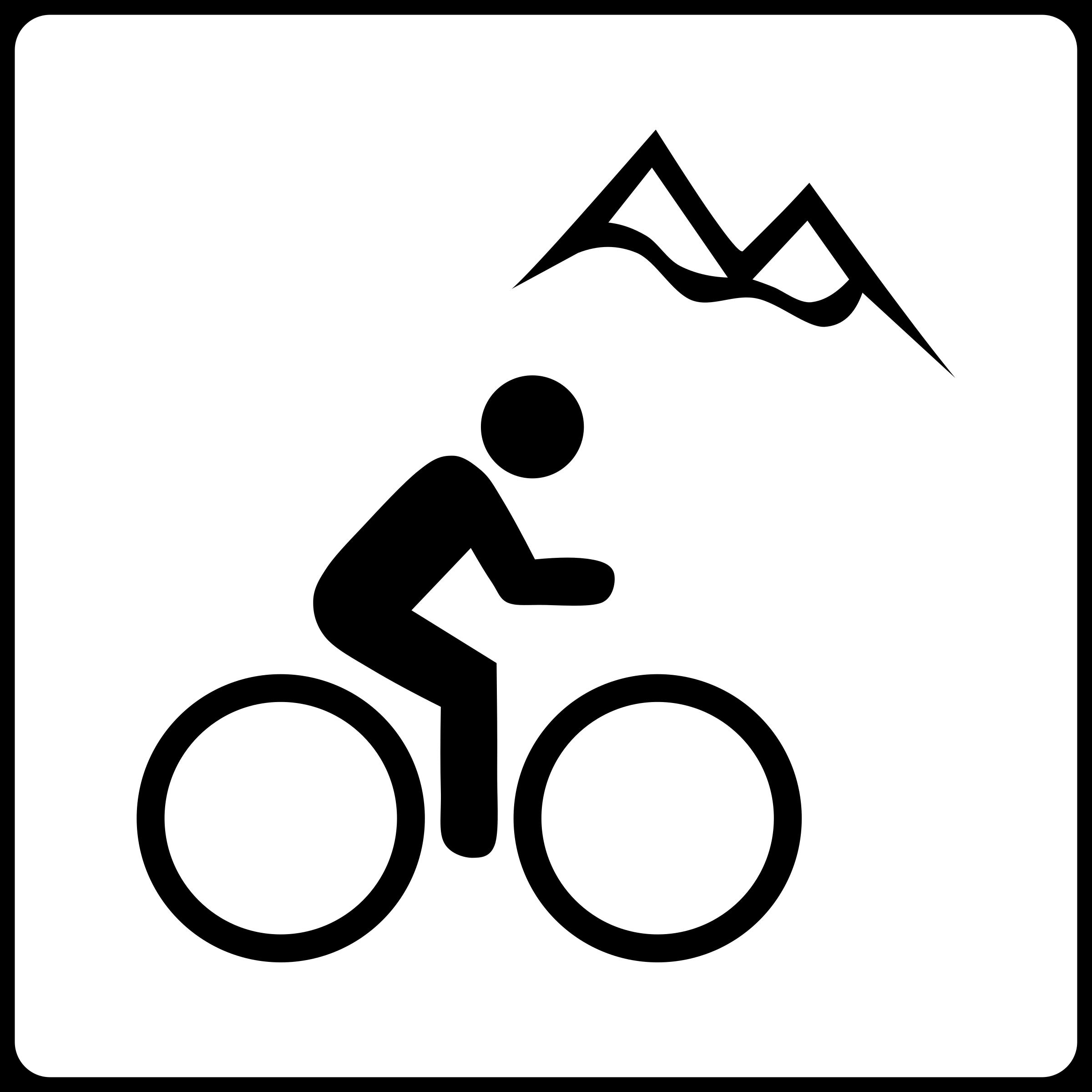 Hotel near mountain biking. Bike clipart icon