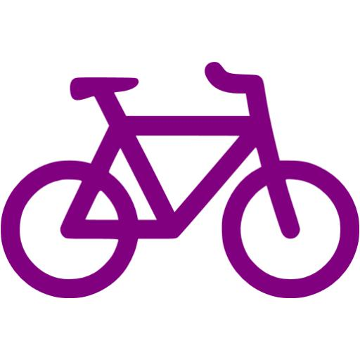 Bike clipart icon. Purple bicycle free icons