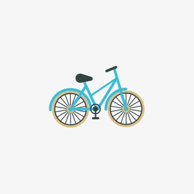 Bike clipart icon. Small material cartoon bicycle
