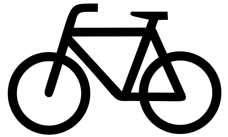 Biking clipart symbol. Plain bicycle icon large