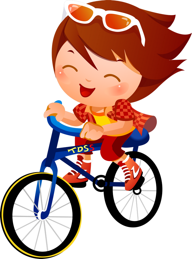 Cycle clipart child.  png clip art