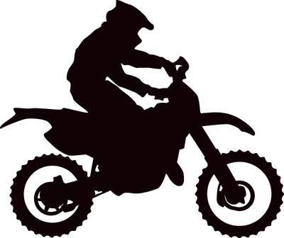 Motocross and vectorart vehicles. Clipart bike dirt bike