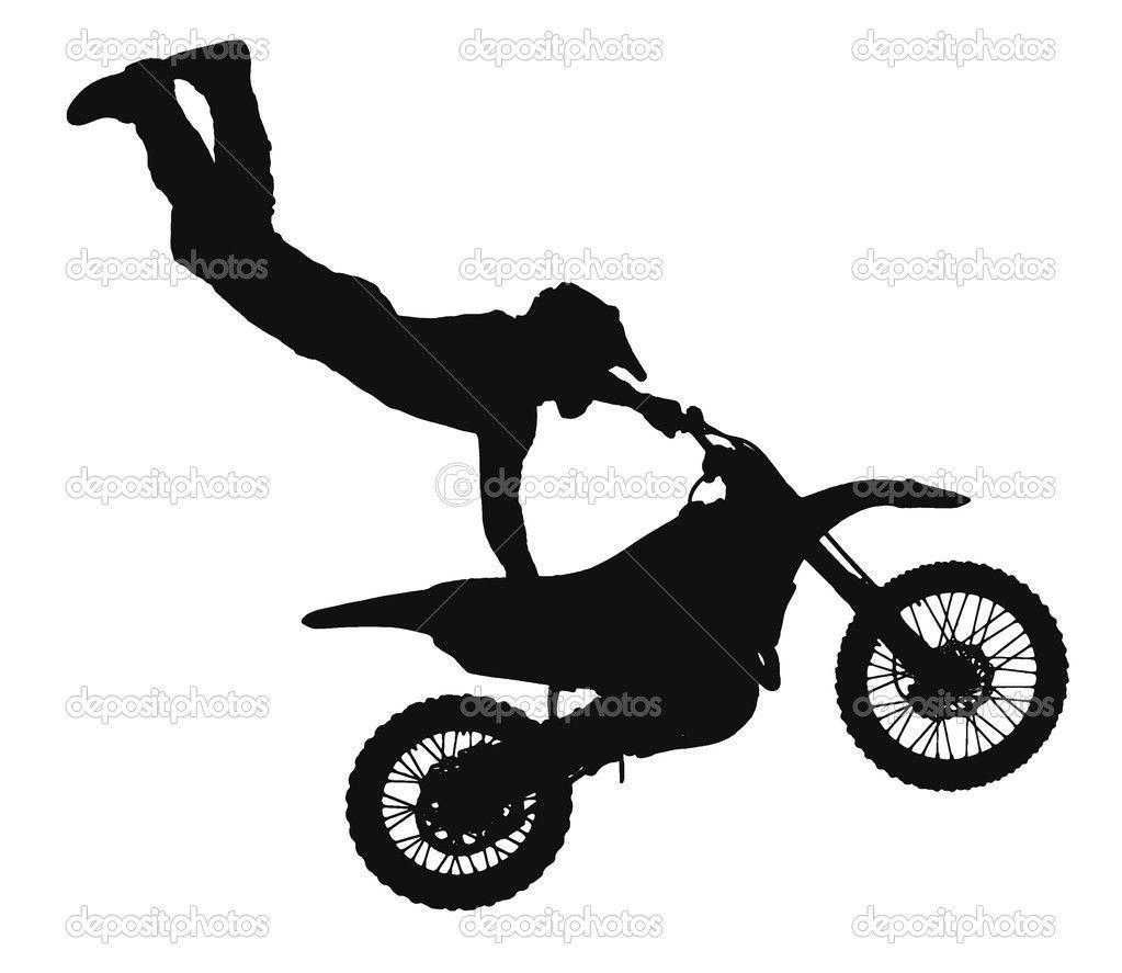 Dirt bike silhouette clip. Whip clipart motocross