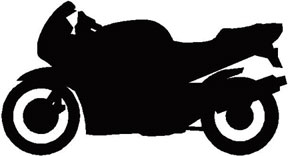 Bicycle black and white. Bike clipart motorbike