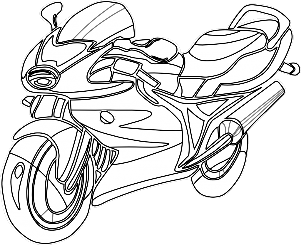 Colouring pictures. Bike clipart motorbike
