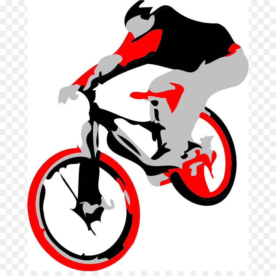Bicycle downhill biking clip. Bike clipart mountain bike