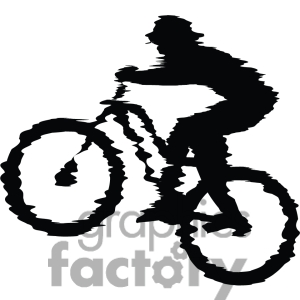 Bike clipart mountain bike. Dirt black and white