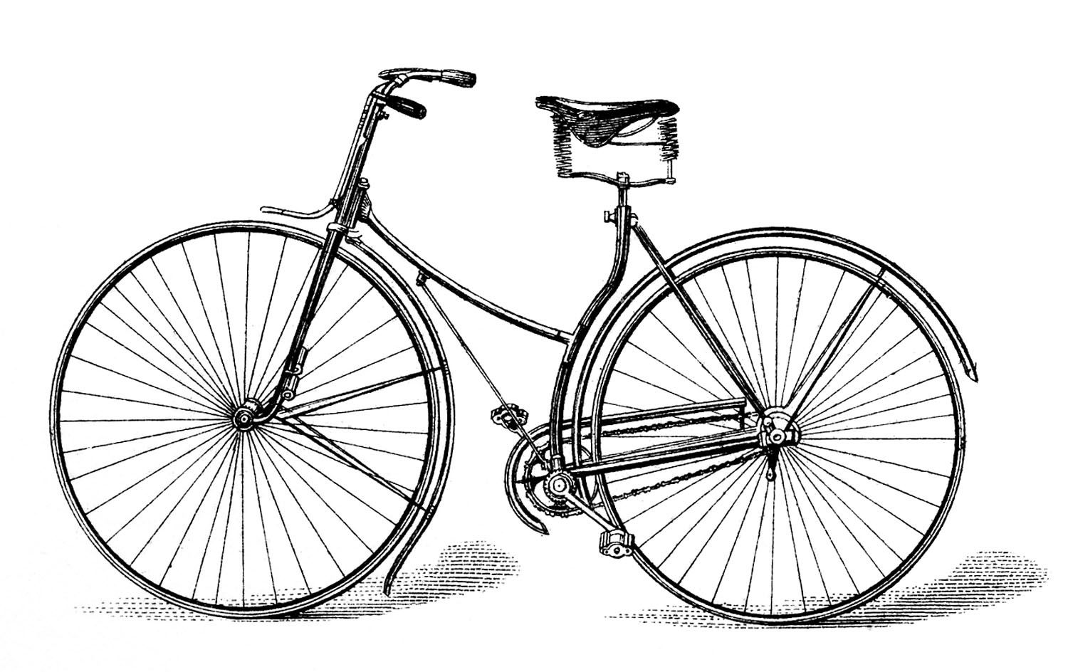 Bike clipart old fashioned.  bicycle clip art