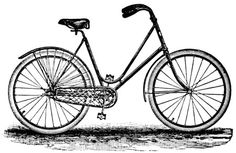 Bike clipart old fashioned. Free vintage clip art