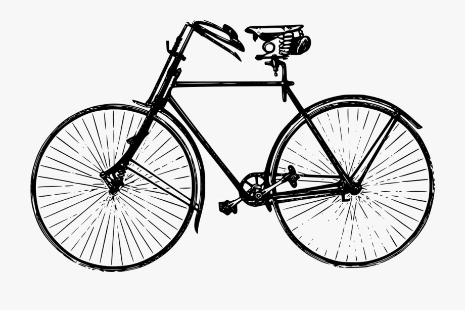 Antique bicycle clip art. Biking clipart old fashioned