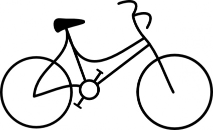 Bike clipart outline. Black white panda free