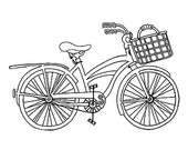 Bike clipart outline. Items similar to beach