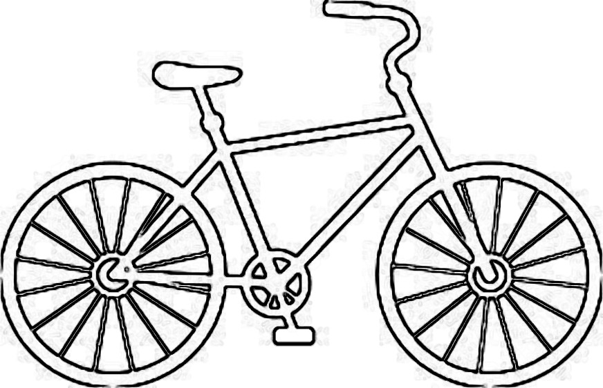 Bike clipart outline.  collection of drawing