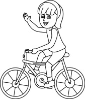 Free black and white. Bike clipart outline