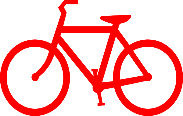 Bike clipart outline. Red bicycle clip art