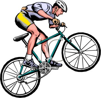 Clipart bicycle cycling sport. Cyclist panda free images