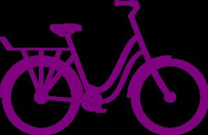 Bike purple bike