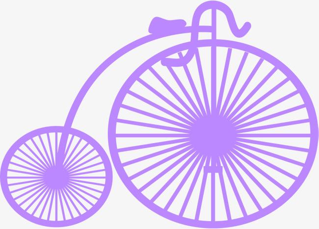 bike clipart purple bike