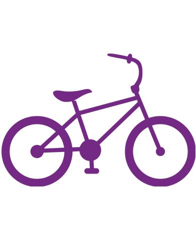 Clip art . Bike clipart purple bike
